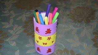 getlinkyoutube.com-Porta lápices con lata reciclada. Manualidades
