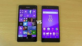 getlinkyoutube.com-Lumia 950 XL VS Xperia Z5 Premium - Speed & Camera Test!