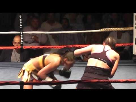 Jennifer Salinas vs. Karen Dulin - Parte 1 (Knockout en Berm