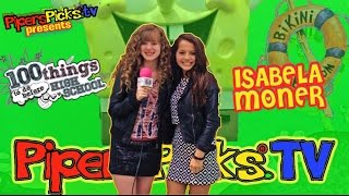 getlinkyoutube.com-ISABELA MONER SECRET Girl Chat with PIPER at NICK ANIMATION for 100 Things To Do Before High School