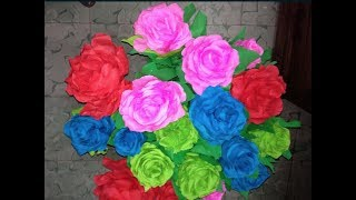 getlinkyoutube.com-rosas con papel crepe faciles paso a paso