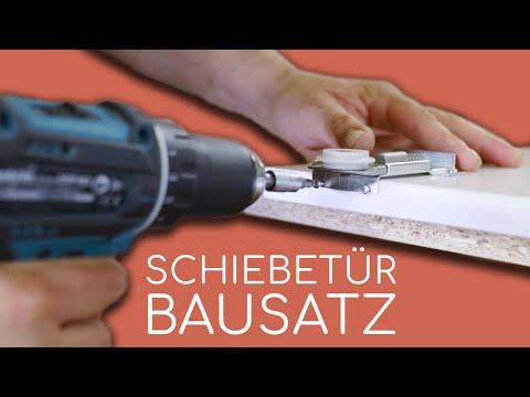 Youtube Video Thumbnail zu dem Artikel BS-Standard Schwarz Rau   Lackierter Schiebetür-Bausatz Bodensystem für Schrank- /Nischen-Türen