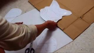 getlinkyoutube.com-#27: Iron Man Mark 42 Helmet Part 1 - Print & Cut (cardboard, with template) | How To | Dali DIY