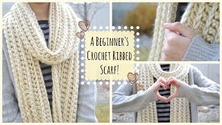 getlinkyoutube.com-How to Crochet a Beginner's Ribbed Scarf! | Ms. Craft Nerd