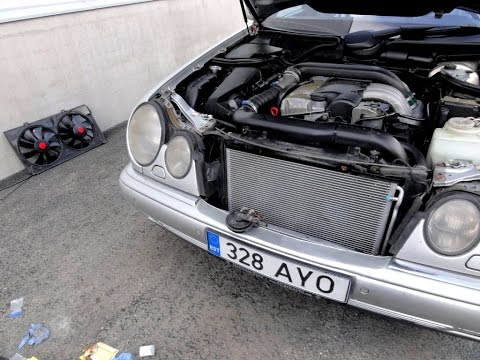 Замена конденсатора(радиатора) кондиционера Mercedes W210 AC Condenser Replacement