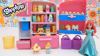 getlinkyoutube.com-Shopkins SO COOL Fridge Toy Unboxing Review with Ariel