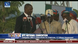 APC Swears In Oshiomhole As National Chairman Pt 1   News@10   24/06/18