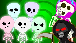 getlinkyoutube.com-Five Little Skeletons | Nursery Rhyme |  Best Halloween Rhymes
