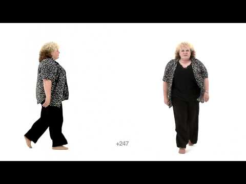 Animation Reference - Mature Aged Woman Walk Casual - Slow Motion