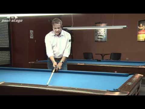 Pool Lessons - Bank Shot Reference Line, Ralph Eckert, Pool Billard Training Lessons