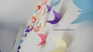 getlinkyoutube.com-DIY How to make beautiful, cheap and easy, 3D wall decoration with Butterflies