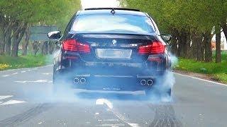 getlinkyoutube.com-BMW M5 F10 Sound V8 Biturbo Acceleration Tire Smoke Kickdown exhaust Beschleunigung Full Throttle