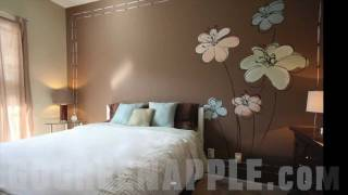 getlinkyoutube.com-Master Bedroom Decorating Idea Green Apple Painting