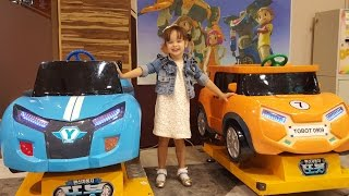 getlinkyoutube.com-또봇 자동차 놀이 Tobot Car amusement Машинки аттракционы 어린이 놀이터