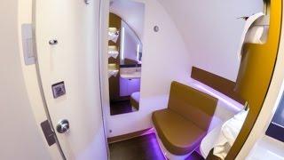 getlinkyoutube.com-TG930 BKK-CDG Thai Airways First Class A380 Bangkok to Paris 4K