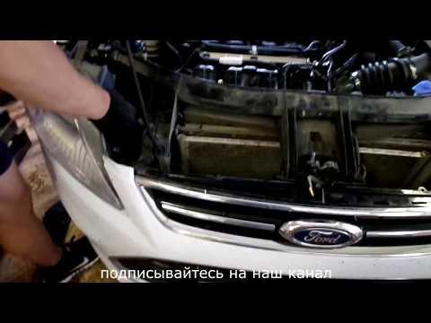 Форд мондео 4 ремонт снятие радиатора кондиционера,