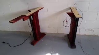 getlinkyoutube.com-DIY electric adjustable convertible Standing Desk