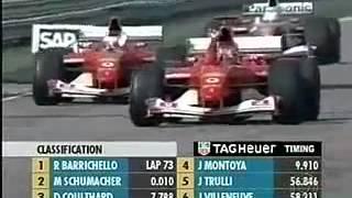 getlinkyoutube.com-Jogo de equipe da Ferrari - Grande Prêmio dos Estados Unidos 2002 Chegada e Pódio