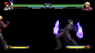 getlinkyoutube.com-The King Of Fighters XIII - EX Iori Yagami Flames VS Shen Woo [Mugen]