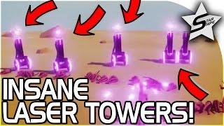 getlinkyoutube.com-NEW UNIT! INSANE LASER TOWER, SKYRIM BATTLE! - Totally Accurate Battle Simulator Gameplay TABS