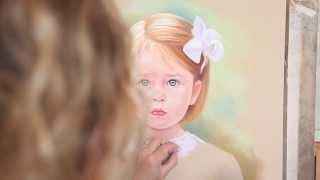 getlinkyoutube.com-Pastel portrait of a little girl