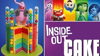 getlinkyoutube.com-INSIDE OUT Cake | Disney Inside Out Rainbow Cake | My Cupcake Addiction
