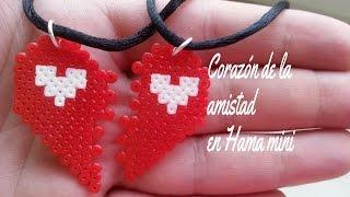 getlinkyoutube.com-Corazon de la amistad (San Valentin) Hama bead mini (perler beads) (tutorial)