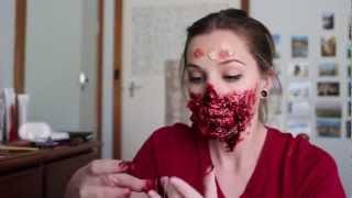 getlinkyoutube.com-Freakmo's First Filmed Zombie Makeup