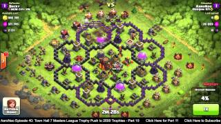 getlinkyoutube.com-Town Hall Level 7 (TH7) Masters League Trophy Push Part 10 - Dragons Attack Strategy -Clash of Clans