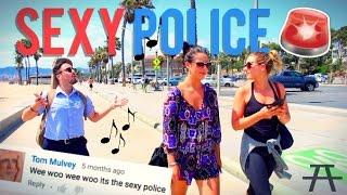 getlinkyoutube.com-SEXY POLICE ON THE BEACH!!