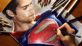 getlinkyoutube.com-Speed Drawing: Superman - Henry Cavill | Jasmina Susak