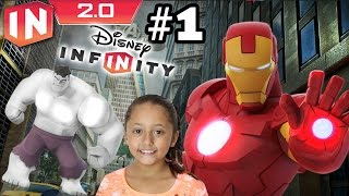 getlinkyoutube.com-The Avengers Play Set - Part 1: Disney Infinity 2.0 (Dad & Daughter Commentary)