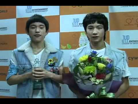 JR (Park jin young),JB (Lim jae bom) 5th JYPE Audition an interviewing winners
