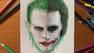 getlinkyoutube.com-JOKER DRAWING / ÇİZİMİ (HEATH LEDGER x JARED LETO)