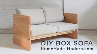 getlinkyoutube.com-DIY Sofa made out of 2x10s