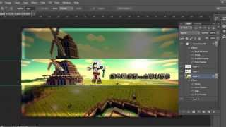 getlinkyoutube.com-*FREE* Youtube Minecraft Channel Art Template #1 - PSD File DOWNLOAD[2014]