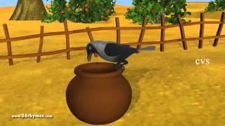 getlinkyoutube.com-Ek Kauwa Pyaasa tha Poem - 3D Animation Hindi Nursery Rhymes for Children with Lyrics