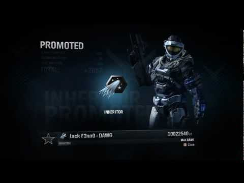 Ranking up to Inheritor on Halo: Reach