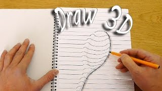 getlinkyoutube.com-How to Draw in 3D - Optical Illusion