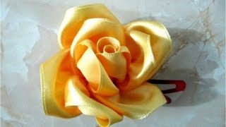 getlinkyoutube.com-Moños de rosas hermosas para el cabello