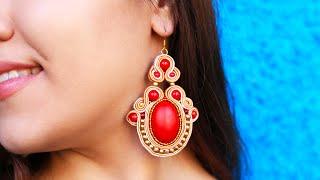 getlinkyoutube.com-DIY Soutache Ethnic Earrings