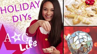 getlinkyoutube.com-Holiday DIYs #1: Snowflake Holiday Cookies & Disco Ornament DIY | #TeamAGLife Ep. 59 | American Girl