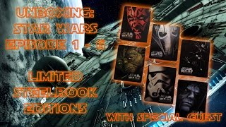 getlinkyoutube.com-Unboxing - Star Wars - Episode 1- 6 - Limited Steelbook Editions