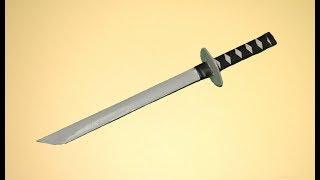 getlinkyoutube.com-Como hacer una Espada de Papel   Katana de Papel │ARMAS CASERAS