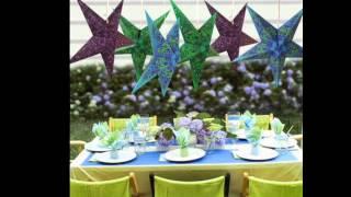 getlinkyoutube.com-Decoracion Fiestas Infantiles :: Estrellas de Papel :: Chuladas Creativas