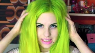 getlinkyoutube.com-Lime Green Hair Transformation! | All Dolled Up