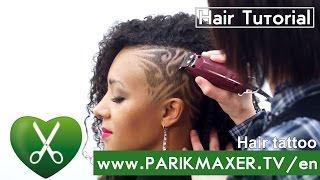 getlinkyoutube.com-Hair Tattoo. Hair Tattoos.How to Hair Tattoo № 4  parikmaxer TV USA