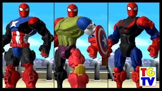 getlinkyoutube.com-Marvel Super Hero Mashers Spider-Man (Battles Edited) | Mix + Smash