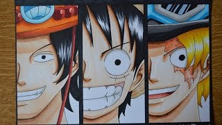 getlinkyoutube.com-Drawing Ace, Luffy and Sabo