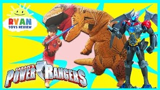 POWER RANGER MOVIE TOYS MEGAZORD Surprise Toys Hunt Giant Life Size Dinosaur Attack Pretend Play